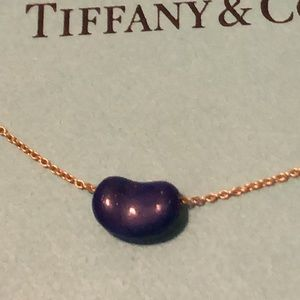 (SOLD) Tiffany blue lapis bean necklace